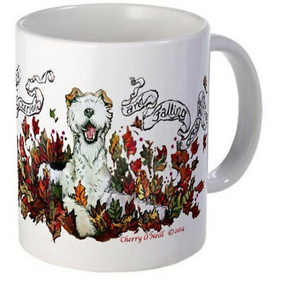 FoxTerrier and Falling Leaves Autumn Coffee Mug WFT Cup