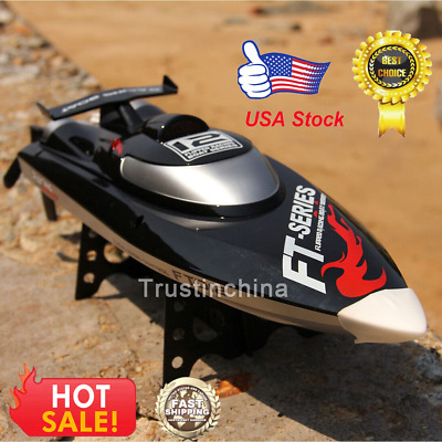 Hotsale FT012 Generation 2 2.4G 4CH Brushless RC Racing Boat High Speed Black