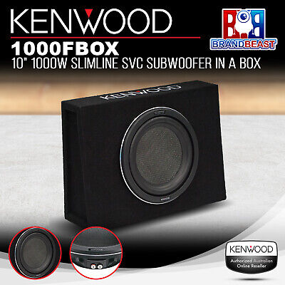 "Kenwood 1000Fbox X Series 10"" 1000W Slim Line Box 4 Ohm Subwoofer Kfc-Wps1000F"