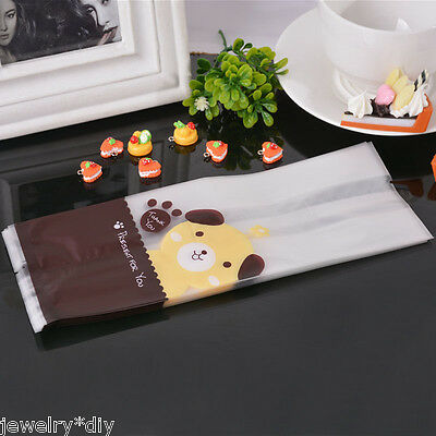 JD 50PCs Cute Dog Frosted Plastic Bags Cookie Candy Cellophane Bags Party Gift