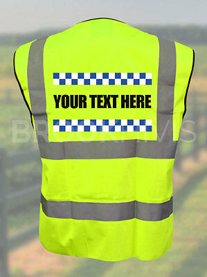 Sillitoe Custom Printed Hi Vis Vest Reflective High Visibility Riding Jacket