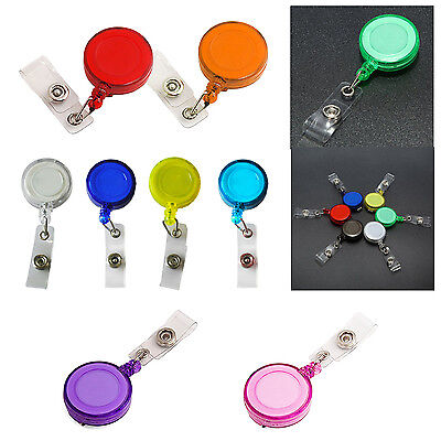 Retractable ID Card Badge Holder Key Chain Reels With Clip  BOT