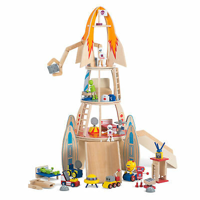 NEW Plum Wooden Super Space Rocket Plywood Timber Indoor Role Pretend Play Kids