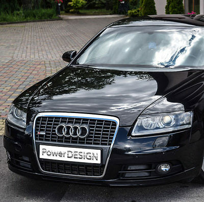 Eyebrows for AUDI A6 C6 2004-2011  headlight eyelids lids ABS Plastic