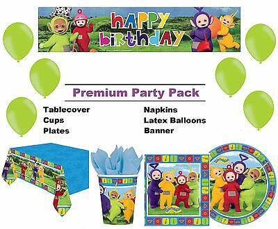 Teletubbies | Po | 8-48 Guest Premium Party Pack | Tableware | Banner | Balloons