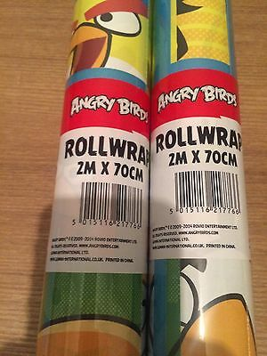 ANGRY BIRDS Gift Wrap Wrapping Paper Roll 2 Metre