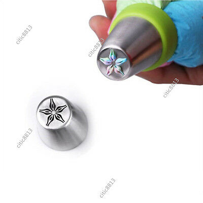 1 pcs Russian Tulip Flower Icing Piping Nozzles Cake Decor Tips Baking Tools AU