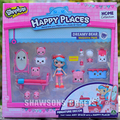 Shopkins Happy Places Miniature Decor Dreamy Bear Jessicake Welcome Pack Playset