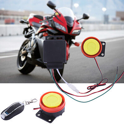 DC12V Motorcycle Scooter Keyless Remote Control Anti-theft Security Alarm System