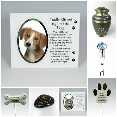 Cat, Dog Pet Memorial Tribute Plaque Stake Marker Spike Urn Remembrance Ornament