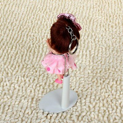 5x(White Adjustable Doll stand 5.5 - 7.8 inches/ 14 - 20 cm L3