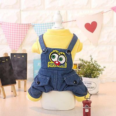 Pet Products Clothing For Dogs Pet Puppy Clothes Winter Warm Denim Dog Pajamas