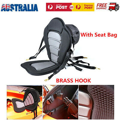 Adjustable Straps & Brass Snap Hooks Deluxe Padded Canoe Seat Backrest Accessory