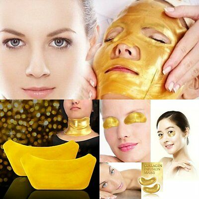 Gold Collagen Bio Crystal for Face Facial Eye Neck Mask Anti Ageing Wrinkle Mask
