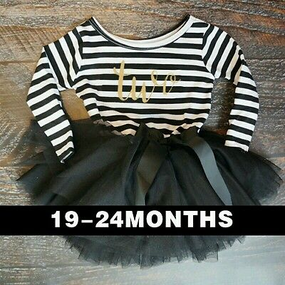 BABY Girls 2nd BIRTHDAY PARTY Dress Two Tutu Outfit cake smash 18 - 24 months UK