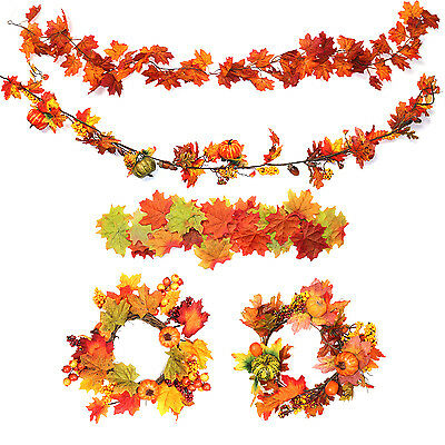 Autumn Maple Leaf Decorations. Choose Artificial Fall Thanksgiving Leaves