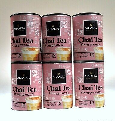 Arkadia Chai Tea Latte Pomegranate 6x 240g Chai latte powder instant chai