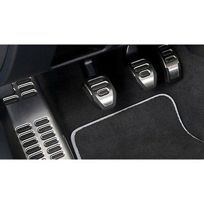 Genuine Audi A4 Aluminium Pedal Covers & Footrest for RHD & Manual Models