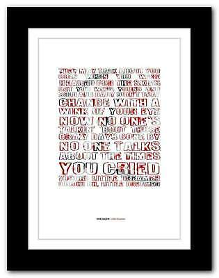 VAN HALEN - Little Dreamer ❤ typography quote poster limited edition print #90