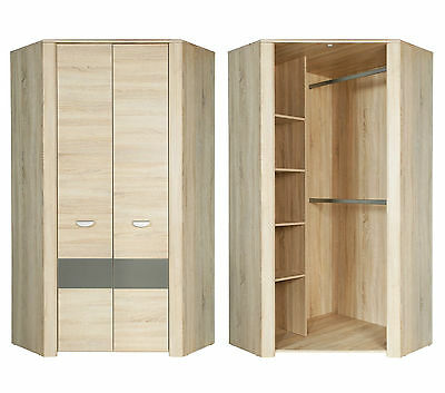 eck kleiderschrank game corner eiche sonoma wei eur 429 00 picclick de. Black Bedroom Furniture Sets. Home Design Ideas