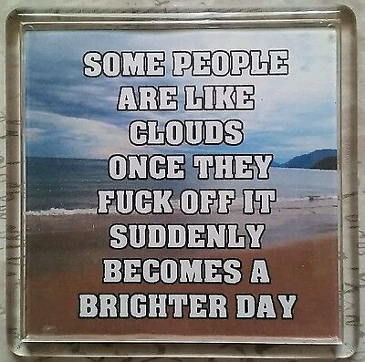 FRIDGE MAGNET 058 Quotes Saying Collector Gift Present Novelty Funny clouds
