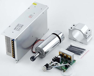 CNC 400W Spindle Motor + Mach3 PWM Controller+Mount + 48V Power Supply Engraving