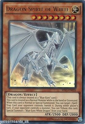 SHVI-EN018 Dragon Spirit of White Ultra Rare UNL Edition Mint YuGiOh Card