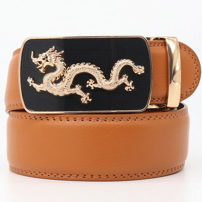 Belts For Men Genuine Leather Belt Gold Automatic Buckle Fashion Jeans Strap