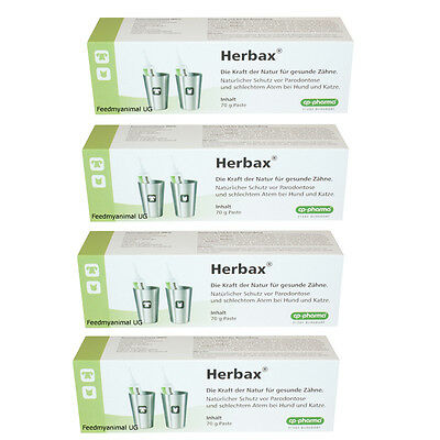 4 x cp-pharma Herbax Toothpaste 70g for Dogs & Cats