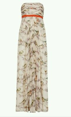 a992aa289 TED BAKER  FAUNIA  Torchlit Floral Ballet Dress Pink US 8  SZ 3 in ...