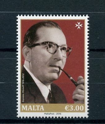 Malta 2016 MNH Dominic Mintoff Birth Cent 1v Set Politicians People on Stamps