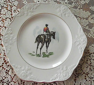Marlborough Old English Ironstone 6 Sided Plate Horse & Rider Simpsons Pottery