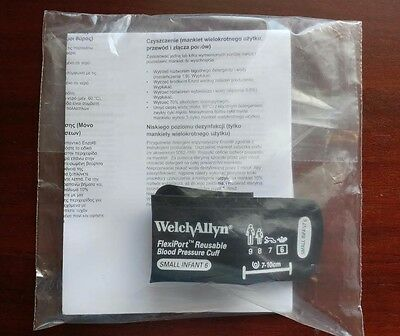 Welch Allyn Blood Pressure Cuff Reusable FlexiPort - SMALL INFANT #REUSE-06 NEW