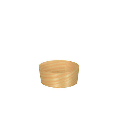 "500 Fingerfood - Schalen Holz ""pure"" rund Ø 5 cm 2 cm Party Catering"