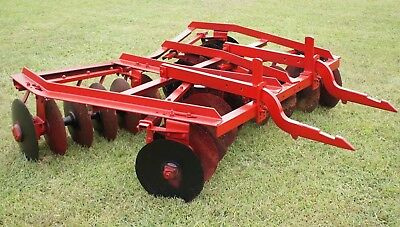 7' IH McCormick 2pt Hitch No. 136 Disk Harrow Disc International Farmall 340 560
