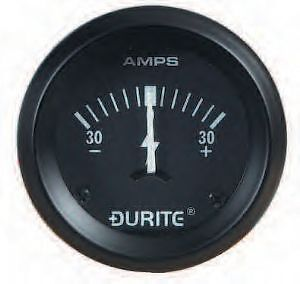 "Land Rover Series 1 2 2a 3 Dash Panel 2"" Auxiliary Ammeter Illuminated Gauge"