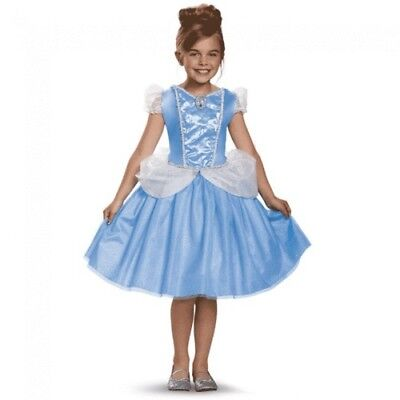 Disney Girls Cinderella Classic Princess Dress Fairy Tale Child Costume 3T4T 4-6