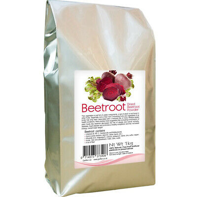 Beetroot Powder Ground 100% Natural 1kg / Vitamin and Nutritional Supplements