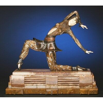 Signed Karmona Bronze Sculpture By Chiparus