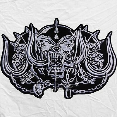 """Snaggletooth Warpig Motorhead Inferno Logo Embroidered Big Patch for Back 11"""""""