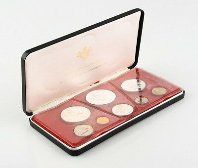 1972 Cayman Islands Proof Set (8 Coins) 4 in Sterling Silver Sealed w/ Box Case