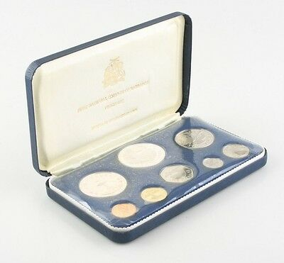 1973 Barbados Proof Set (8pc) National Coinage Franklin Mint Silver w/ Box CoA