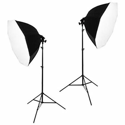 2 Softbox Studio Video Photo Lighting Photography Light Kit
