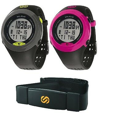 Soleus GPS Sole Heart Rate Monitor Digital Watch Speed Distance Pace Calorie USB