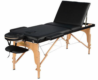 Multi-Purpose Wooden Reclining portable massage/reiki/Tattoo/Facial Bed table