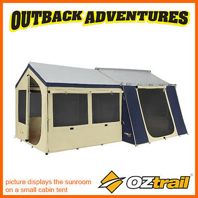 OZTRAIL CANVAS SUNROOM SUITE 10x8 12x9 12x15 & CHATEAU CABIN TENTS CTCA-SRP-D