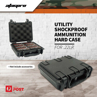 Atacpro .22lr Ammo Range Hard Case Water Resistant Shockproof Ammunition Box
