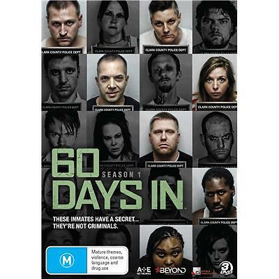 60 Days In - Season 1 (DVD, 2016, 3-Disc Set) (Region 4) Aussie Release