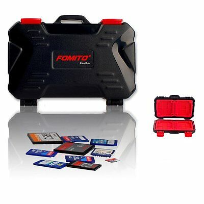 Fomito Flash Memory Card Carrying Case for SD CF MicroSD - Red inner