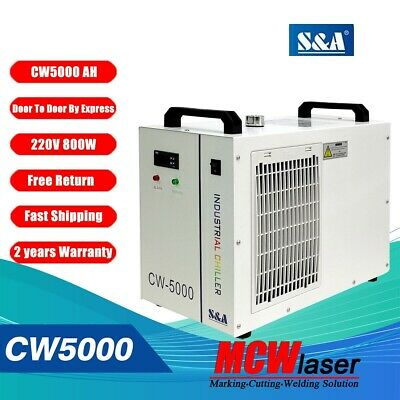 CW-5000BH Industrial Water Chiller for 5KW CNC Laser Spindle Welding AC220V 60Hz